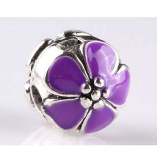 Purple Flower Buckle Charm