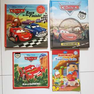 Disney books (Cars + Handy Manny)