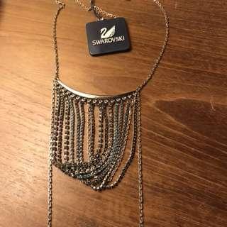 Swarovski sexy 'fringe' Silver necklace