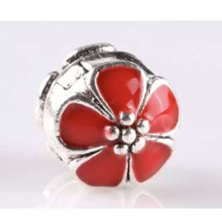 Red Flower Buckle Charm