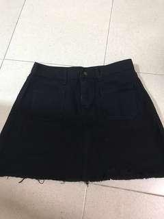 Pocket ripped skirt