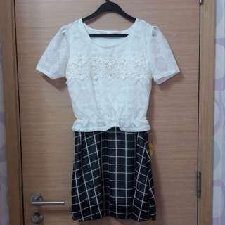 White Blouse, Black Skirt