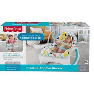 BNIB: Fisher Price Infant-to-Toddler Rocker, Geo Multicolor rocking chair - baby bouncer