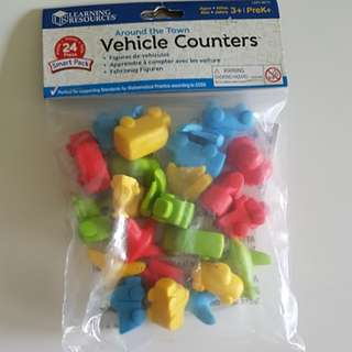 Vehicle Counters, 24pc