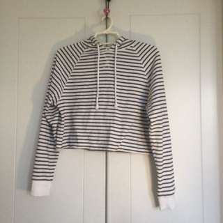 Stripped cropped hoodie