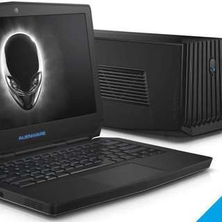 Alienware 13 R2 + graphic amplifier + external graphic card GTX 970 *Free gift-Alienware sleeve+Cooler master laptop cooler*