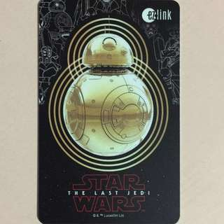 Limited Edition brand new Star Wars The Last Jedi BB-8 Design ezlink Card For $13.90.