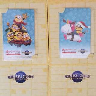 Limited Edition brand new Universal Studios Minions Design ezlink cards With Nice Folders For Sale.