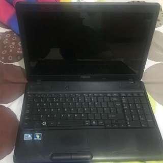Defective Toshiba laptop