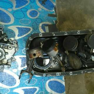 Piston,oil sum,oil pump Wira 1.5