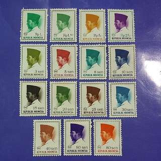 1966 Indonesia First President Mint Stamps