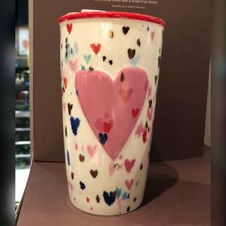 Starbucks Double Wall Confetti Heart Mug