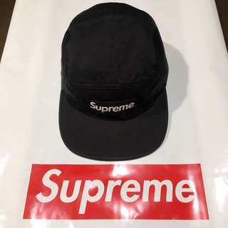 SS2018 1st Drop - Supreme Washed Chino Twill Camp Cap (Black)