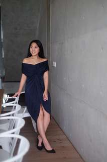 Navy blue Sabrina dress