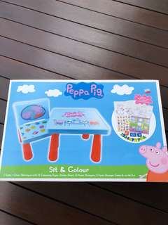 Authentic Peppa Pig Table and Chair