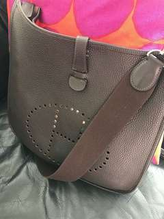85% new Hermes Evelyne pm Dark Brown stamp H