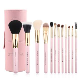 🗣❗️OFFER❗️Zoreya Makeup Brush Set - 12pc (Soft Pink)