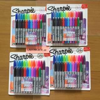 New Authentic Sharpie Electro Pop Markers 24pcs