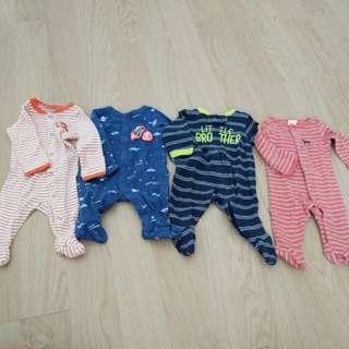 Carters bodysuits sleepsuits newborn
