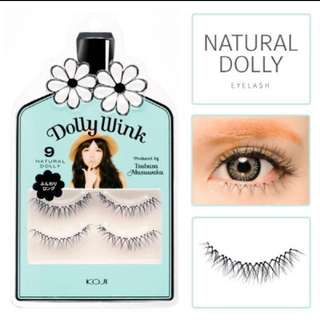 Koji Dolly Wink False Eyelashes No.9 Natural Dolly