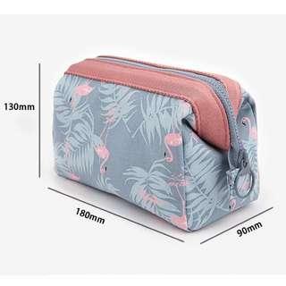 Flamingo pencil case make up storage