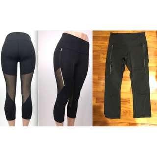 "Lululemon Mesh Pant 25"", Black size 6"
