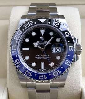 LNIB Rolex GMT-Master II 116710BLNR Batman