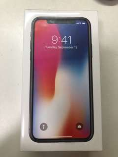 iPhone X 256GB 黑色 全新港行