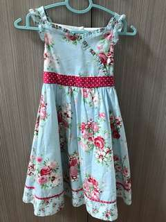 Mothercare Flowery Blue Sleeveless Dress Cath Kidston 6 - 7