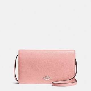 FOLDOVER CLUTCH CROSSBODY IN PEBBLE LEATHER
