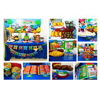 MICKEY MOUSE CLUBHOUSE Themed Birthday Party (Party Supplies) Pls CHAT with us for the detailed/specific product listing & price.. We Have wide range of stocks pre printed & personalized printables…