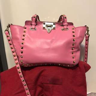 Valentino Rock stud rolling tote bag