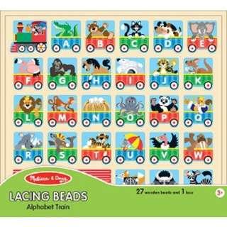 Train Lacing Alphabet Set Melissa & Doug Kids Wooden Toys