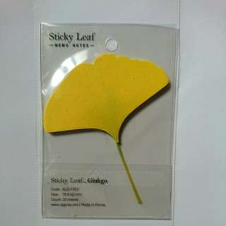 樹葉memo紙 (sticky notes- leaf)