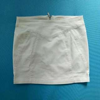 White Bershka Miniskirt