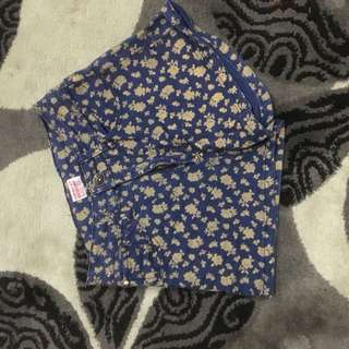 Floral Blue Shorts