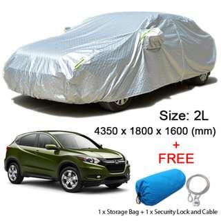 (Size 2L) Hatchback Car Cover Rain, Dust Resistant, Sunlight, Weather Protection