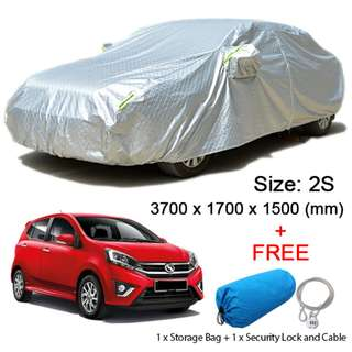(Size 2S) Hatchback Car Cover Dust, Rain Resistant, Sunlight, Weather Protection