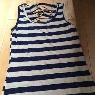 Long dress garis