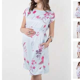 Jump Eat Cry Maternity/Nursing Dress