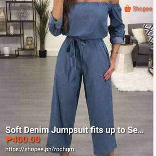Soft Denim Jumpsuits