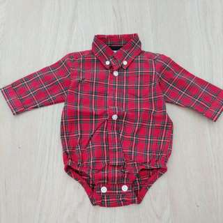 Carters long Red Sleeve Shirt 3 months