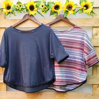Continuous 3/4 sleeves top