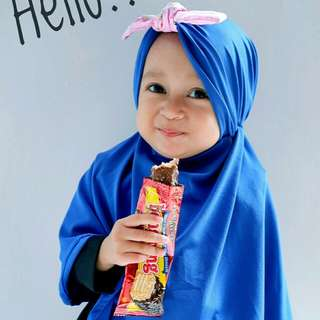hijab anak pita ikat