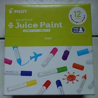 [包平郵]全新pilot  juice paint 12 colors 中字 水性顏料Marker