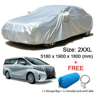 (Size 2XXL) Hatchback Car Cover Rain, Dust Resistant, Weather, Sunlight Protection