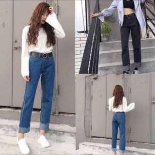 韓版直筒褲