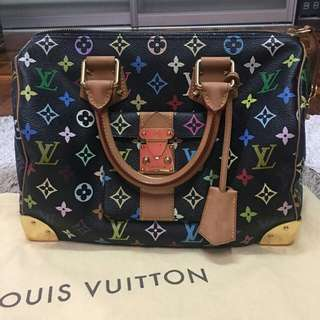 Preloved Louis vuitton Speedy 30 Multicolor