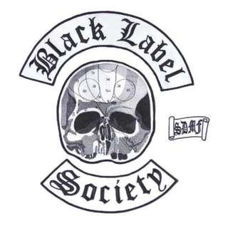 Black Label Society BLS Biker Set Of 4 Big Embroidered Back Vest Patches - New