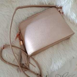 Rose Gold Small Handbag with Free Matching Small Wallet